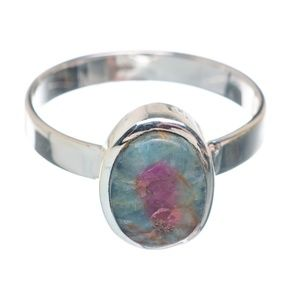 Ruby Fuchsite .925 Sterling Silver Ring